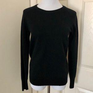 HALOGEN 100% Cashmere Black Sweater